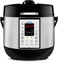 IAIQ Premium 6 Quart Pressure Cooker with 13-in-1 Cook Modes Including Slow Cooker and Manual Electric Pressure Cooker   Stainless Steel
