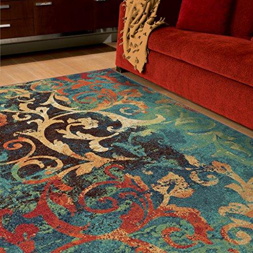 Orian Rugs Watercolor Scroll Multi 5'3' x 7'6'