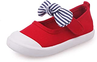 8f667c1619e7 Maxu Girl's Canvas Flats Princess Bowknot Shoes(Toddler/Little Kid/Big ...