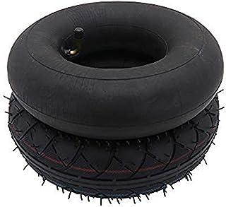 Tubo interior de 4,10/3,50-4 pulgadas y neumático de repuesto para carretilla de mano, carro de utilidad, carro de jardín, soplador de nieve, cortacésped de césped, carretilla,generador y más,scooter