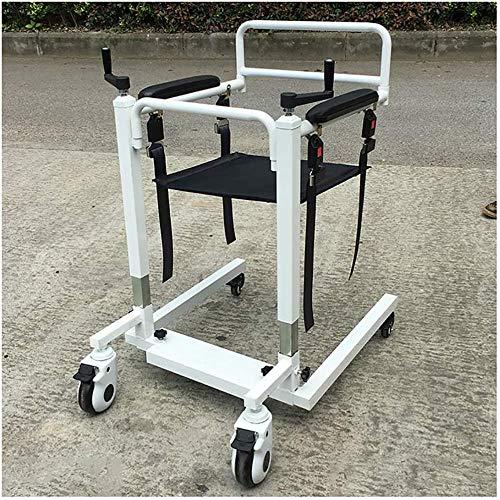 JWCN Hochleistungs-Patientenlift mit manueller niedriger Basis 500 lb. Gewichtskapazität Patiententransfer-Hebebühne für ältere Menschen mit Behinderungen Uptodate