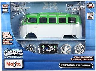 HCK Classic Volkswagen VW Samba Bus - Assembly Custom Model Kit Diecast Toy Cars 1:24 Scale
