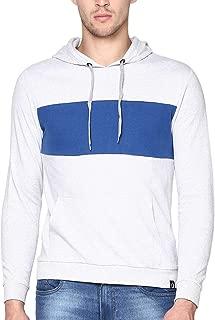 Urbano Fashion Men's Color-Block Cotton Hooded Sweatshirt