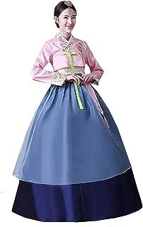 XINFU Women Korean Traditional Long Sleeve Hanboks Dancing Dress Cosplay Costume