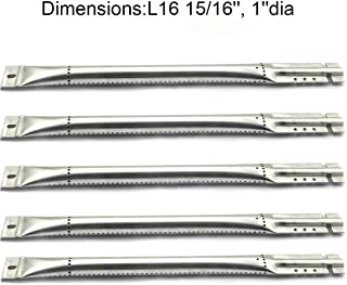 Grill Valueparts RE5641GB (5-pack) Stainless Steel Pipe Burner Replacement For Brinkmann, Charmglow, Jenn Air, Kirkland , Kitchen Aid, Nexgrill And Other Grill Models (Dims: 16 15/16