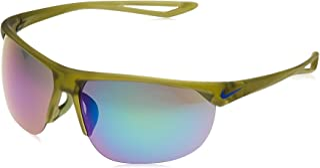 نظارات شمسية لركوب دراجات التمرين للرجال من نايك بتصميم مربع لون اخضر مع رمادي/اخضر/ستن مير لين