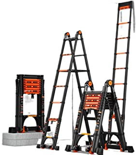 Factory Direct supply aluminum alloy telescopic ladder trestle ladder thickened folding stair multi-function lifting engin...