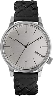 KOMONO Unisex KOM-W2032 Winston Woven Series Analog Display Japanese Quartz Black Watch