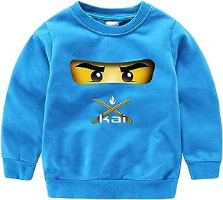 GD-SportBX Girls Boys Ninjago Pullover Sweatshirt Toddler Kids Crewneck Cotton Tops