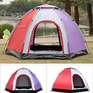 DorisAA camping tält enkel inställning utomhus 5-6 personer pop-up camping tält vattentät UV-beständig strand solskydd sky...