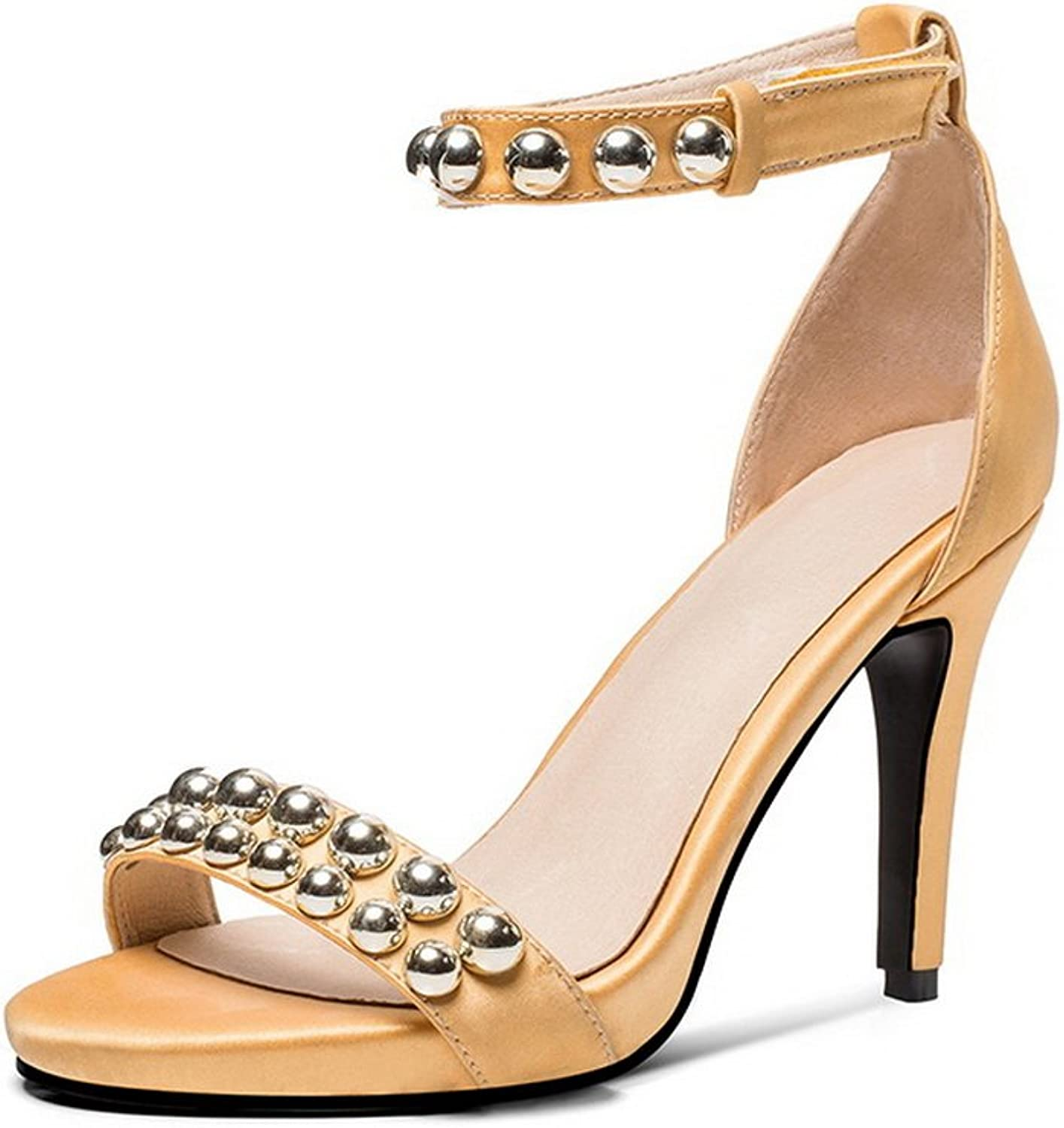 AN Womens Studded Dress Lights Urethane Sandals DIU00968