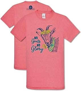 No Goats No Glory Heather Coral Silk Soft Cotton Blend Novelty T-Shirt