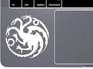 CCI Targaryen Logo Game of Thrones House Mother of Dragons Decal Vinyl Sticker|Cars Trucks Vans Walls Laptop| White |4.5 x 4.5 in|CCI1517