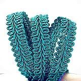 Turquoise Gimp Braid Trim 3/8' X 10 Yards