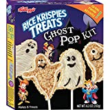Kellogg's Rice Krispies Treats Ghost Pop Kit - Crafty Cooking Kits -Includes Marshmallows, Rice Krispies, Frosting, Ghost Molds, Icing, Piping Bag, and Pop Sticks - Halloween Themed Snacks