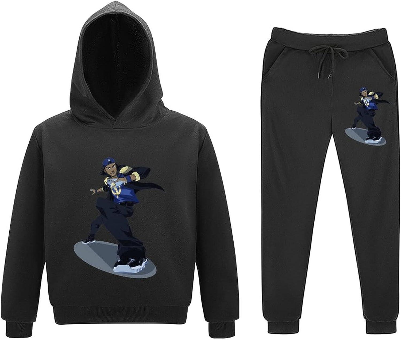 StaticSh-ock Toddler Boy Girls Sweatsuits Outfits Little Kid Tee Pants Set Child Hoodie Pullover 2 Piece