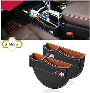 S-WEKA M Line Seat Gap Filler,Car Seat Storage Box for BMW 2Pack (Black)