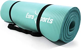 EUROSPORTS 1/2-Inch Extra Thick 72-Inch Long NBR Eco Friendly Non Slip Yoga Mat with a Carrying Strap for Yoga, Pilates and Exercise, Build Your Body Confidence in 2018