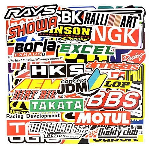 DSSJ Graffiti Racing Car Modificación Etiqueta Impermeable Motocicleta Bicicleta Casco Motor Maleta Portátil Trolley Pegatinas 100 Uds