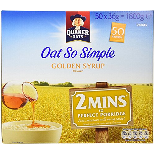 Quaker Oats Oat So Simple Golden Syrup Flavour - 1 x 50 sachets