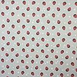 Erdbeeren Baumwolle Rich Leinen Look Stoff für Vorhänge