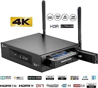 "Eweat R9plus 4Kp60 HDR 3.5"" Hard Disk Bay Media Player 2GB RAM 16GB EMMC on Realtek 1295 Dual-WiFi 2.4G/5.0G,3D Ultra HD H.265 DSD Digital Audio Smart TV Box"