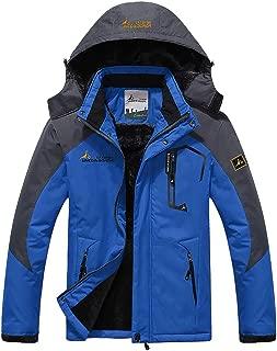 Men's Winter Coats Mountain Ski Jacket Warm Snow Jacket Waterproof Windproof Rain Jacket for Hiking Camping Outwear