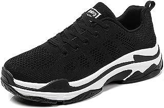 ZLYZS Zapatos Casuales para Mujer, Zapatillas de Malla de Punto Zapatillas para Correr Ligeras Zapatillas de Deporte Antid...