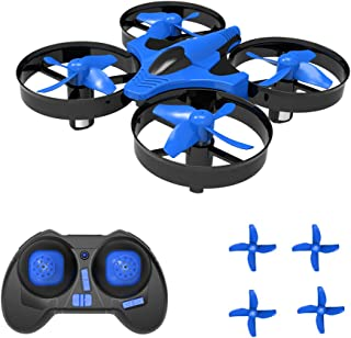 SKYKING Remote Control Drone Nano Drone S-011 Nano Quadcopter 3D Flips Headless Mode 6 Axis Gyroscope Extra Propellers Kids Blue