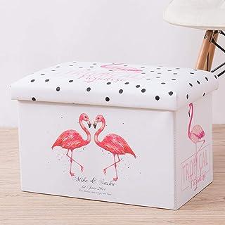 ZXXFR Panier À Linge Sale Corbeilles À Linge,Panier À Linge avec Couvercle Flamingo Fashion Design De Grande Capacité De S...