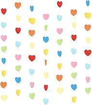 Colorful Paper Heart Garland Birthday garland Wedding GARLAND Party d\u00e9cor Bright Garland Pink GarlandBridal ShowerRoom decoration