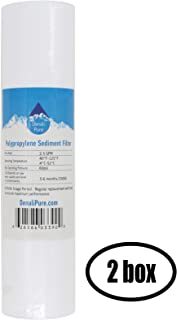 2 Boxes of Replacement for Aqua Pure SST1 Polypropylene Sediment Filter - Universal 10-inch 5-Micron Cartridge Compatible with SST1 3M Aqua-Pure Whole House Water Filtration System - Denali Pure Brand