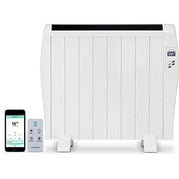 IKOHS EMITERM WiFi - Emisor Radiador Térmico, 8 Elementos de Calor, Pantalla Digital, WiFi, App, Mando a Distancia, Programable, Aluminio, Termostato, 16 a 40°C, Incluye Patas (1200 W)