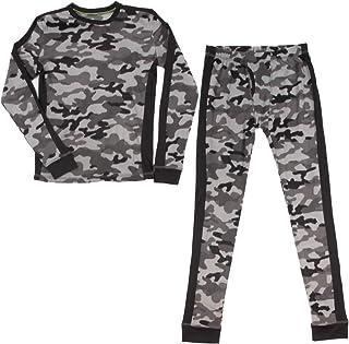 SHANGPIN Boys Thermal Underwear Set Boys Pajamas Cute Long Base Layer for Toddler Kid