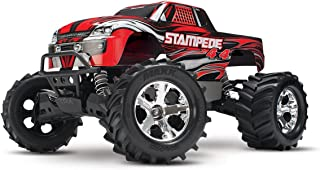 Traxxas Stampede 4X4: 1/10 Scale 4wd Monster Truck with TQ 2.4GHz Radio, Red