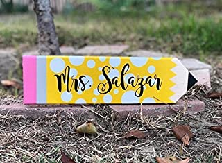 teacher gift, teacher present, pencil sign, classroom sign, classroom decor, personalized teacher gift,