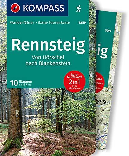 KOMPASS Wanderführer Rennsteig: Wanderführer mit Tourenkarten und Höhenprofilen
