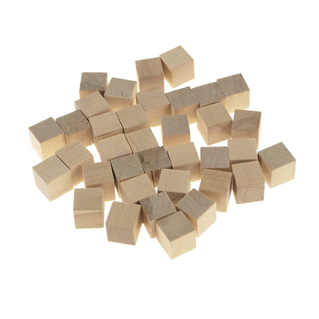 Homeford Wooden Cube Blocks, Natural, 5/8-Inch, 36-Count