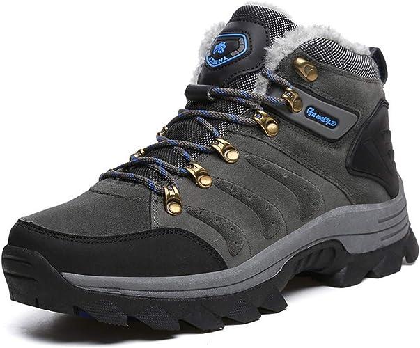 TSSM Randonnée Chaussures étanche Neige Escalade Rock Keep Keep Chaud Exquis Doux Résistant à l'usure Collision Dry Voyage en Plein Air Chasse,36