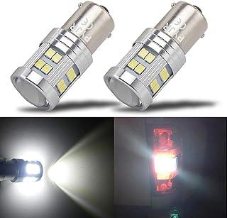 Ampoule Feux de recul LED, PYJR BA15S 1156 p21w, 6W DC10-30V Lumière blanc, pour Bateau,..