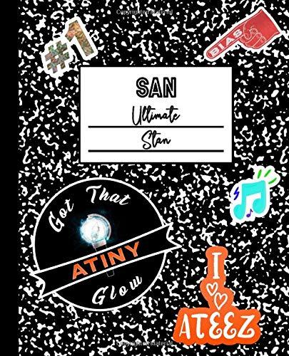 San Ultimate Stan: ATEEZ Mock Sticker Filled Kpop Bias Merch Notebook 7.5 x 9.25