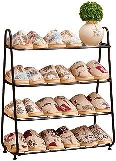 Zapateros Zapato gabinete del Zapato del gabinete |4 Filas |Caja de Almacenamiento for Grandes Zapatos de Metal Hierro for...