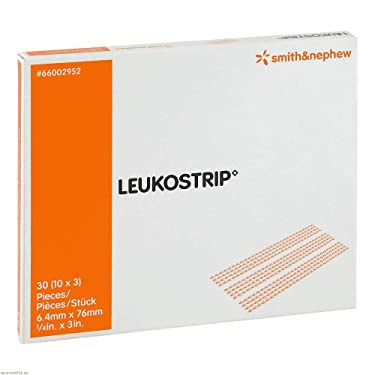 Leukostrip Wound Closure Strips 76.0 x 6.4 mm / 10 x 3 Strips by Smith & Nephew