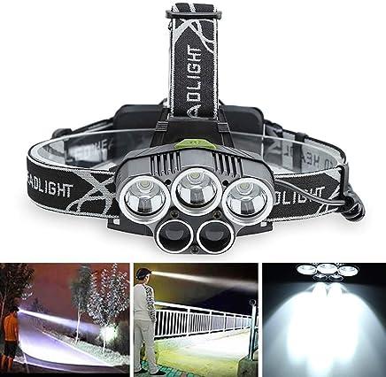 DJSkd Taschenlampe Wasserdichte Nachtfischen Head-Mounted Bergmannlampe Blendung USB-Ladescheinwerfer Outdoor Outdoor Outdoor Long Range (Farbe   3 Weiß Light2 Blau Light) B07QB62G14     | Innovation  b38dd9