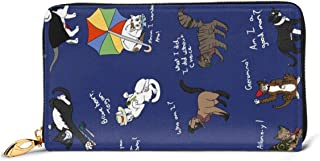 Doctor Who Cats Wallets For Men Women Long Leather Checkbook Card Holder Purse Zipper Buckle Elegant Clutch Ladies Coin Purse
