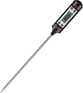 AMIR Upgraded Digital Meat Thermometer, Instant Reaction Cooking Thermometer with 5.9 Inch Long Probe, LCD Screen, Anticorrosive Materials, Auto OFF, for Meat, Food, Barbecue, Milk, Bath Water