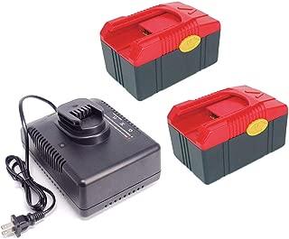 Battery for Snap on CTB6187 CTB6185 18V 4.0 amp CTB4185 CTB417 Li-ion (2Pcs) + CTC620 Charger