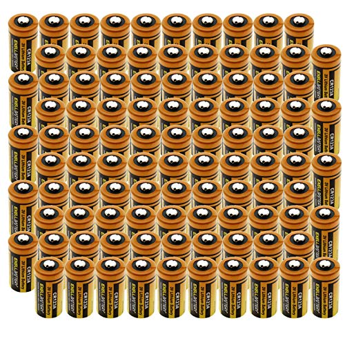 (100-PACK) 3.0V Exell EB-CR123A Lithium Battery | Highest Capacity ON The Market 1700mAh| Replaces DL123A, EL123AP, SF123A, DL123, DL123A, DL123A2, EL123, EL123A, EL123AP, VL123A, 123-SANYO, 5018LC