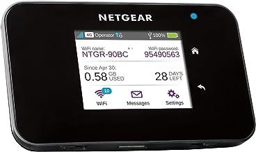 NETGEAR AC810 - Router 4G SIM, Velocidad hasta 600 Mbps, Conecta hasta 15 Dispositivos WiFi, wifi Portatil 4G con Cualquier SIM
