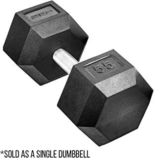 Rep Fitness Rubber Hex Dumbbells, with Low Odor and Fully...